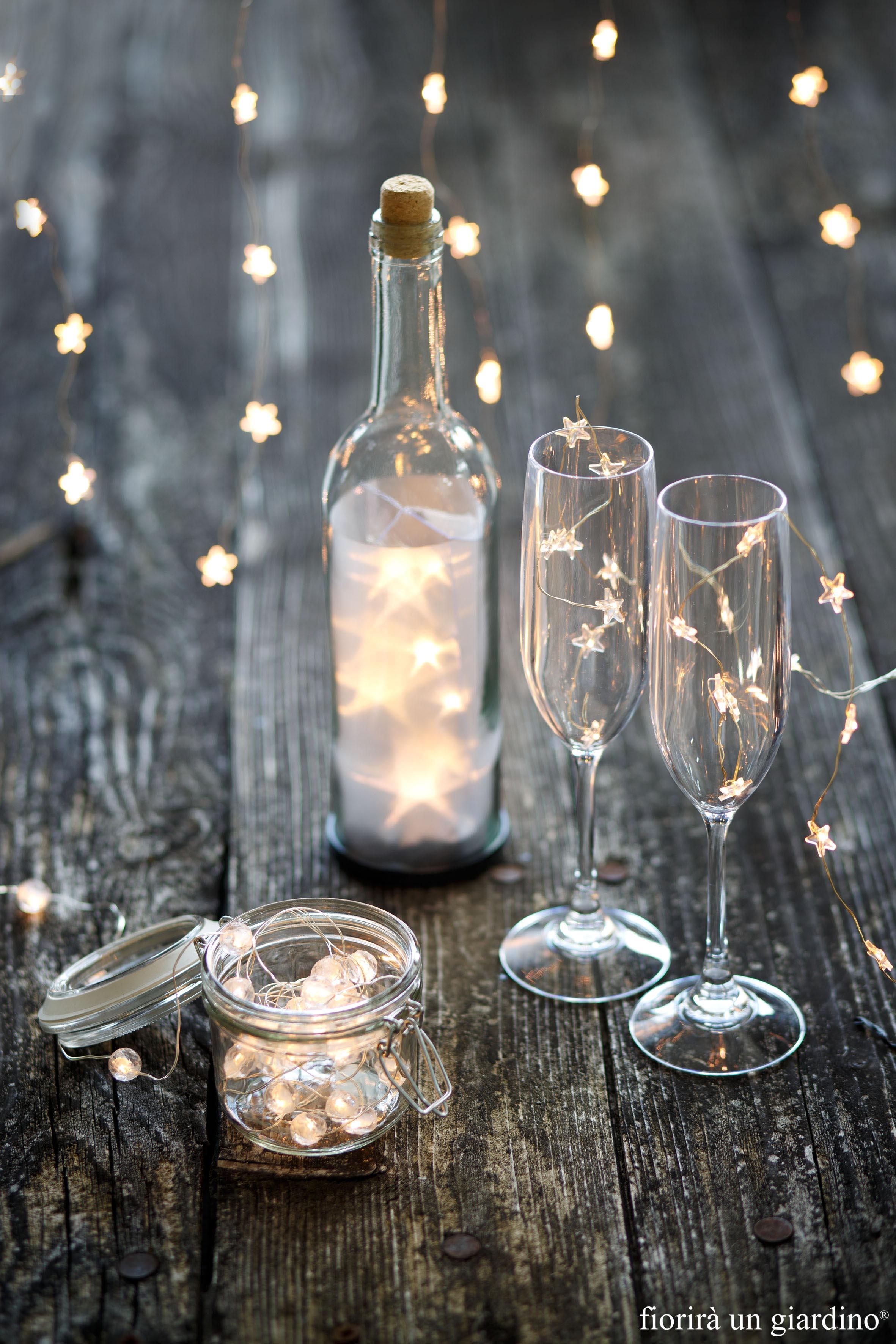 Bottiglia trasparente luminosa benvenuti nel nostro - Renna natalizia luminosa per giardino ...