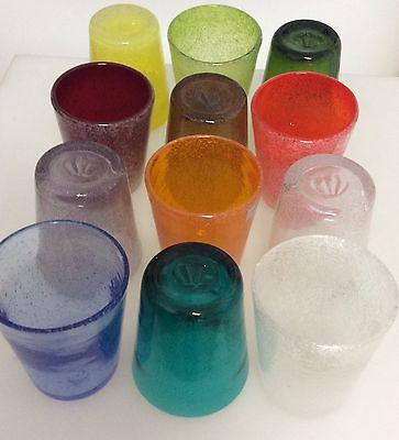 Bicchiere vetro colorato acqua 1pz benvenuti nel nostro for Bicchieri colorati